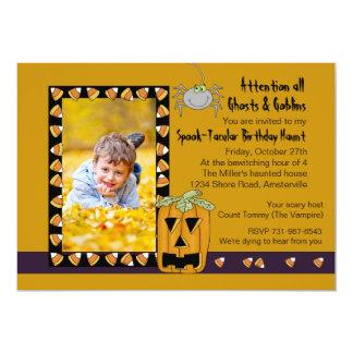 Pastillas de caramelo - fiesta de cumpleaños de invitación 12,7 x 17,8 cm