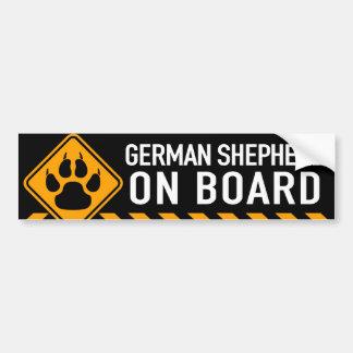Pastor alemán a bordo pegatina para coche