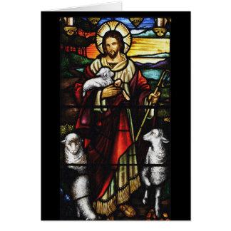 Pastor de Jesús y sus ovejas Tarjeta