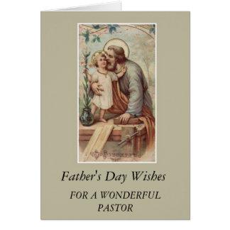 PASTOR del día de padre de Jesús de San José y del Tarjeta De Felicitación