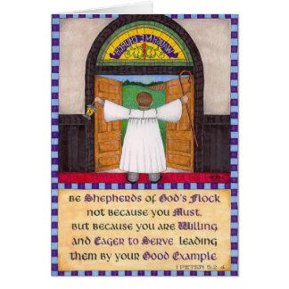 Pastores de la tarjeta del aprecio del pastor de