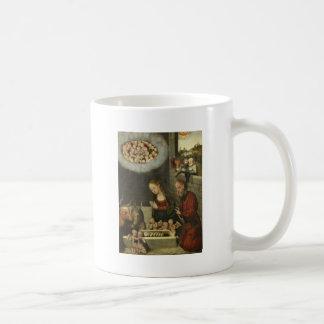 Pastores que adoran al bebé Jesús por Cranach Taza De Café