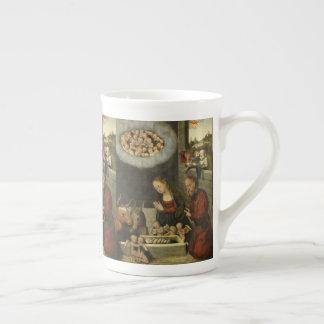 Pastores que adoran al bebé Jesús por Cranach Taza De Té
