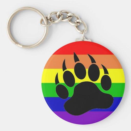 Pata de oso del orgullo gay llavero personalizado