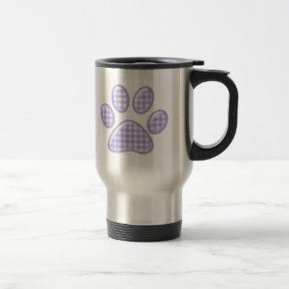 pata del gato de la guinga - púrpura taza de viaje