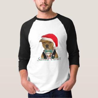 Patas de la Staffordshire Santa Camiseta
