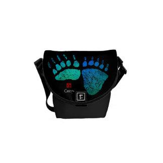 Patas de oso en azul/el verde - la mini bolsa de
