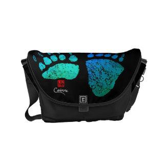 Patas de oso en azul/el verde - la pequeña bolsa