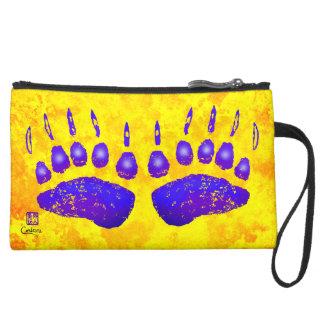 Patas de oso púrpuras - bolso del cosmético de