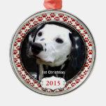 Patas de plata del perro mis primeros ornamentos ornamento de reyes magos