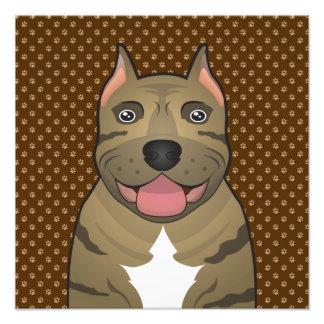 Patas del dibujo animado del perro de Presa Canari