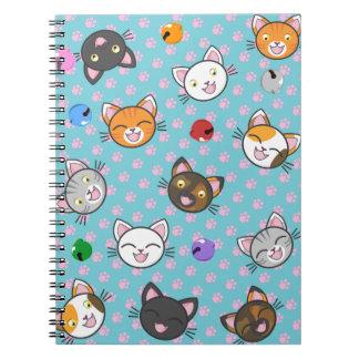 Patas del gatito de Kawaii - cuaderno