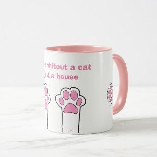 Patas del gato taza