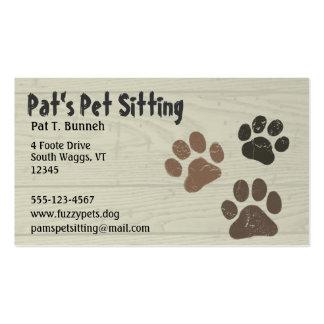 Patas del mascota tarjetas de negocios
