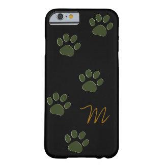 patas del perro personalizadas funda de iPhone 6 barely there