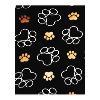 Patas lindas del perro folleto 21,6 x 28 cm