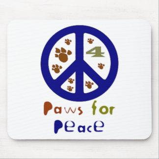 Patas para la paz (marina de guerra) alfombrilla de ratón