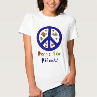 Patas para la paz (marina de guerra) camiseta