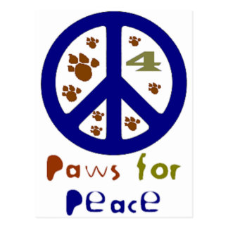 Patas para la paz (marina de guerra) postal