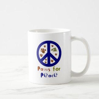 Patas para la paz (marina de guerra) taza básica blanca