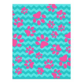 Patas rosadas del perro de los galones de la folleto 21,6 x 28 cm