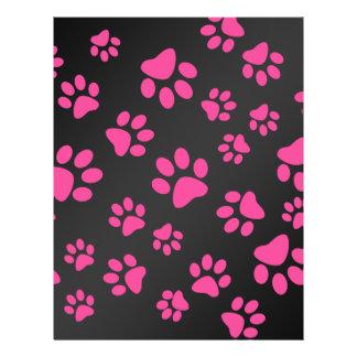 Patas rosadas negras del perro folleto 21,6 x 28 cm