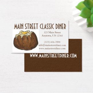 Patata cocida con el comensal del cocinero del tarjeta de negocios