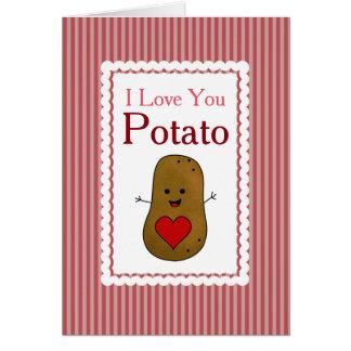Patata de la tarjeta del día de San Valentín te