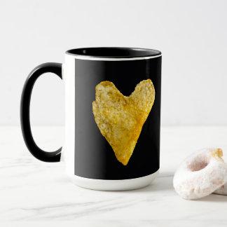 Patata frita en forma de corazón taza