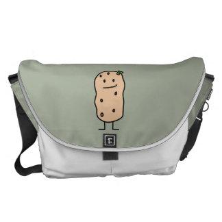 Patata sonriente linda feliz bolsa messenger