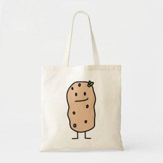 Patata sonriente linda feliz bolsa tela barata