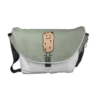 Patata sonriente linda feliz bolsas messenger