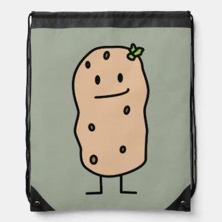 Patata sonriente linda feliz mochilas