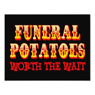 Patatas fúnebres digno de la espera invitaciones personalizada