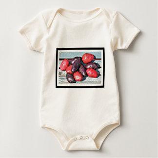 patatas rojas y púrpuras body para bebé