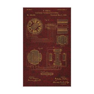 Patente 00382280 Sht 3 de Tesla Impresión En Lienzo