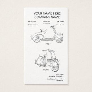 Patente de la bicicleta del motor circa 1949 - tarjeta de visita