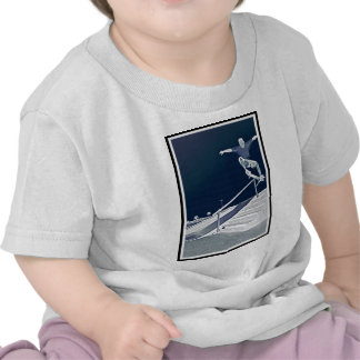 Patín azul de Ollie Camiseta