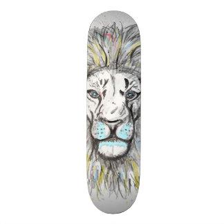 Patín El león dibujado mano fresca del bosquejo y de la