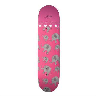 Patin Elefantes grises rosados conocidos personalizados
