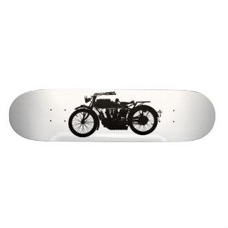Patín Personalizado Silueta de la motocicleta del vintage en negro