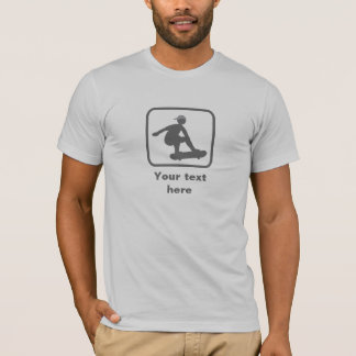 Patinador -- Logotipo gris -- Personalizable Camiseta