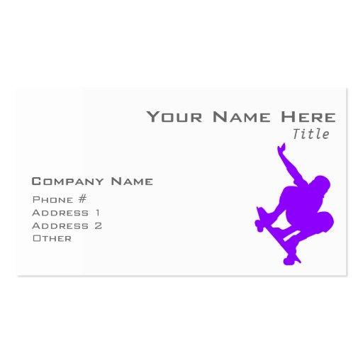 Patinador púrpura violeta plantilla de tarjeta personal