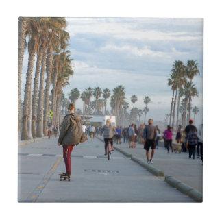 patinaje a la playa de Venecia Azulejo