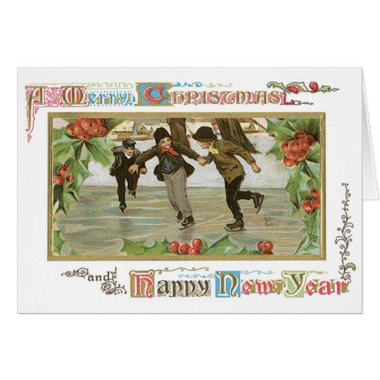 Patinaje de hielo de la tarjeta de 032 del vintage