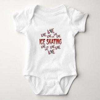 Patinaje de hielo del amor del amor body para bebé