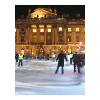 Patinaje de hielo del navidad folleto 21,6 x 28 cm