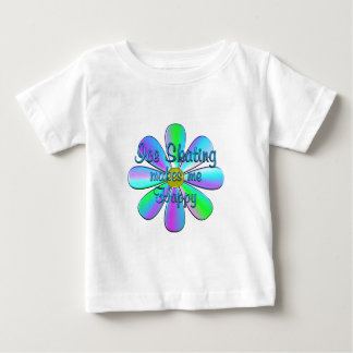 Patinaje de hielo feliz camiseta de bebé