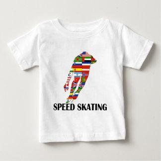 Patinaje de velocidad camiseta de bebé