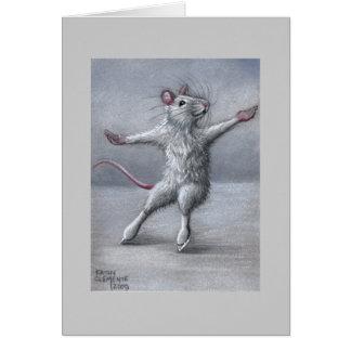 Patinaje en tarjeta de la rata del hielo